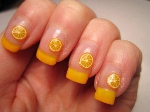 ongles citrons