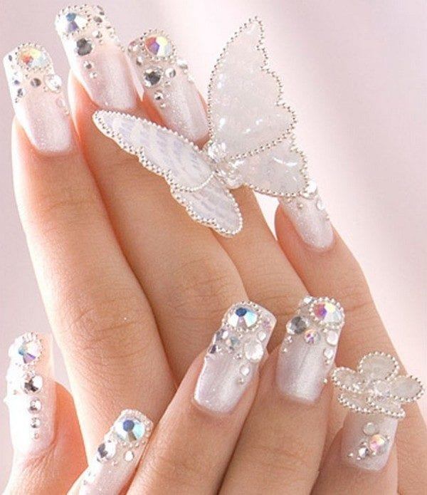 decoration ongles brillant